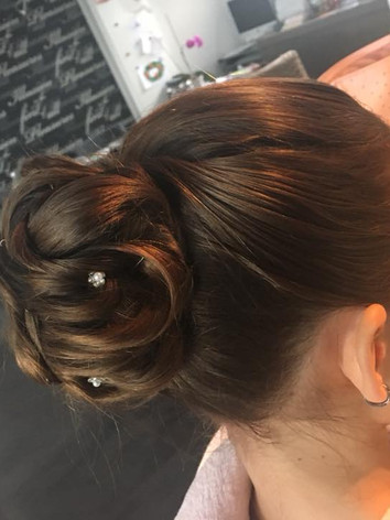 Updo with twist