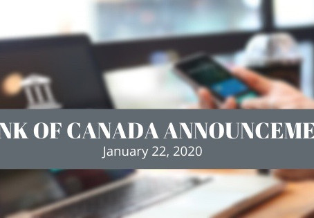 January 2020 - Bank of Canada Announcement