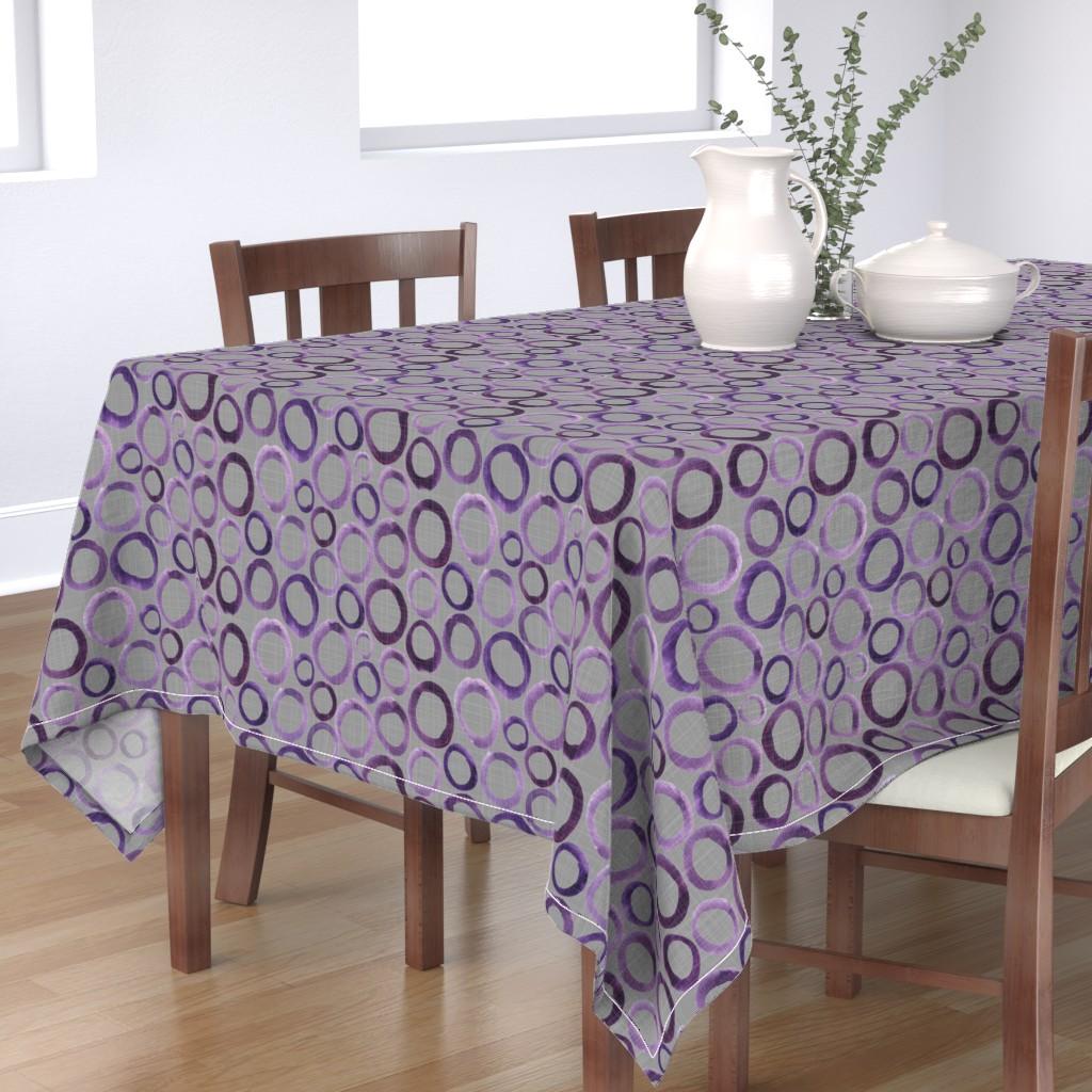 Table Cloth Purple Circle