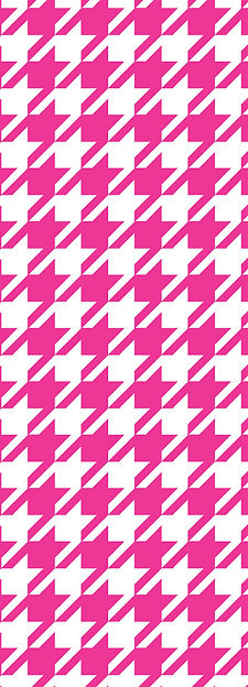 Small scale hot pink houndstooth