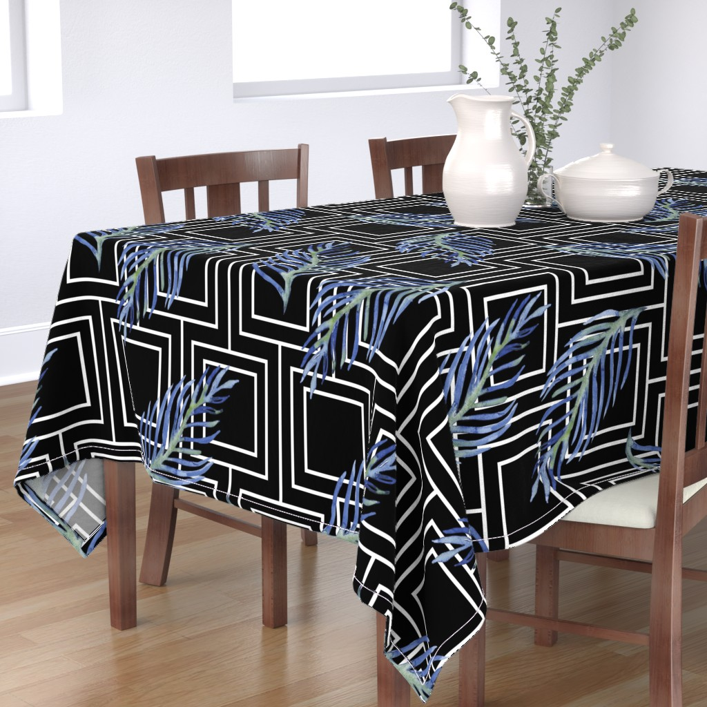 TableCloth Blue Feather