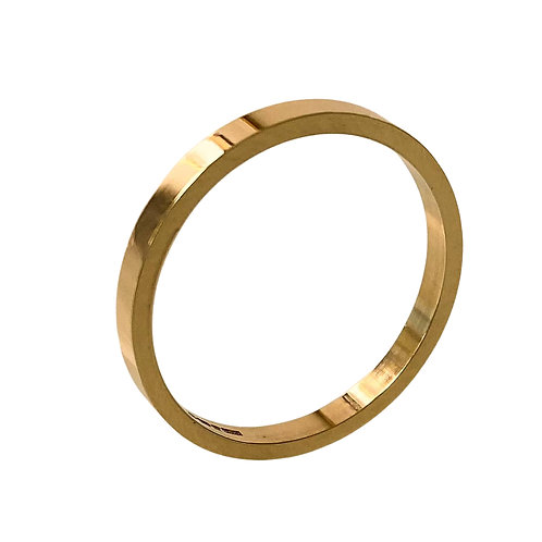 18ct Gold Flat Stacking Ring