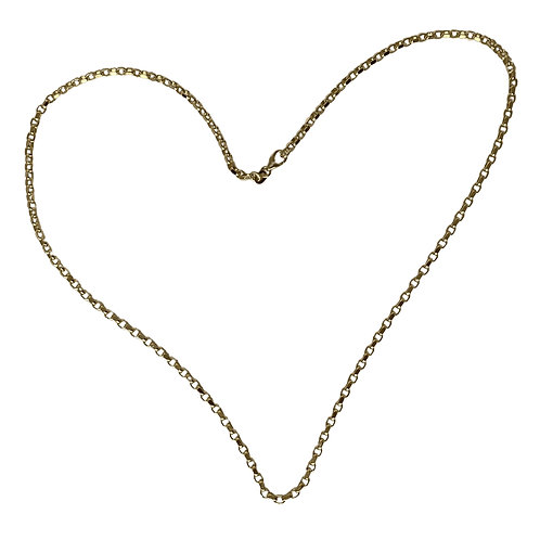 Solid Gold Adjustable Chain Necklace