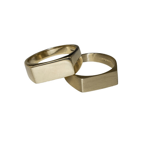 Gold Wide Signet Ring