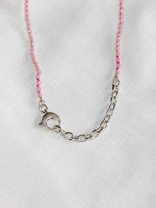 Rose Quartz Faceted Bead Necklace