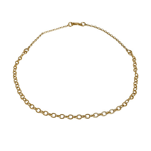 The Aquila Solid Gold Choker Necklace