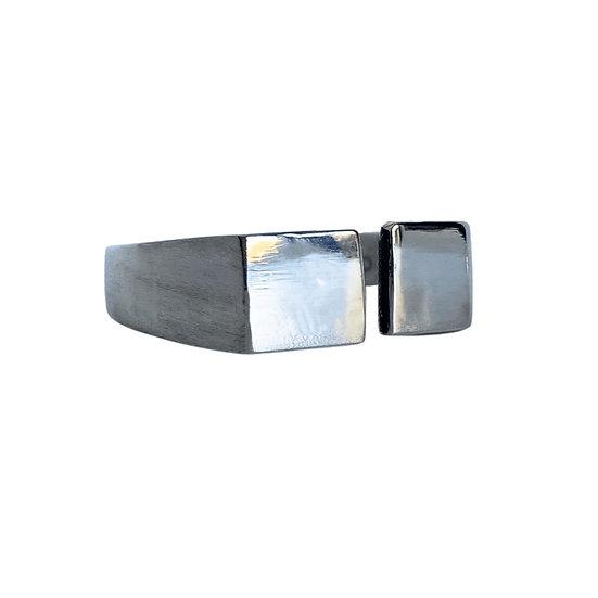 Silver Split Signet Ring