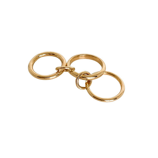 The Curated 2-Finger Gold Ring