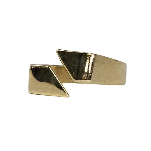 Solid Gold Split Signet Ring