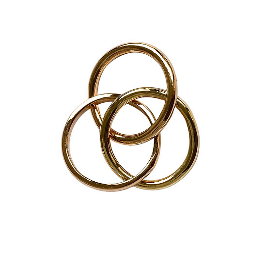 Solid Gold Interlocking Pinky Ring