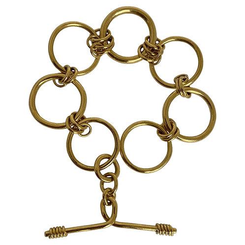18ct Gold Large Link Chunky Bracelet