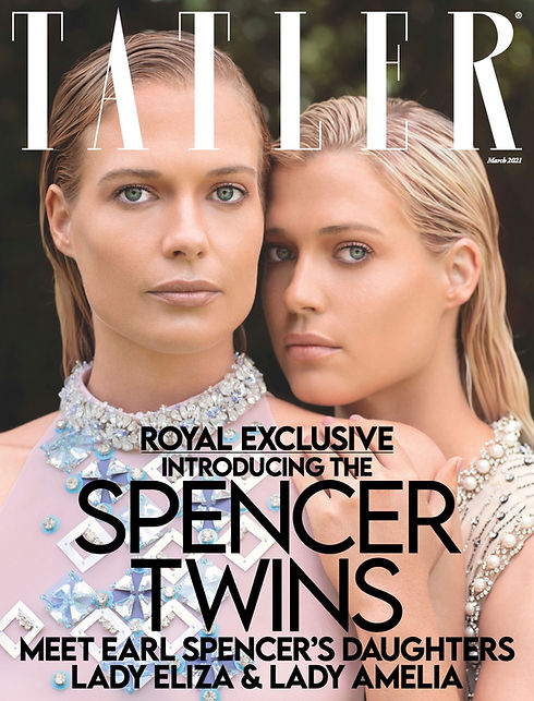 Tatler magazine featuring the Spencer twins and Lucille London jewellery
