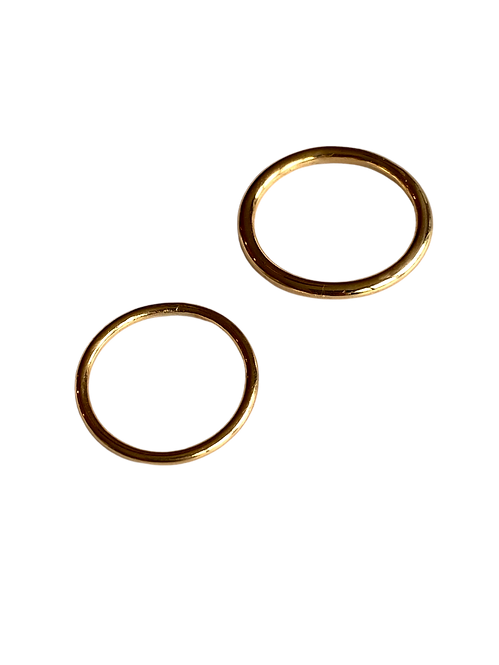 The Simplicity 1.5 Solid Gold Stacking Ring