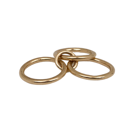 Solid Gold Midi Ring