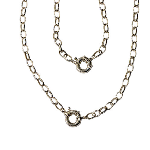 Silver Adjustable Necklace Bracelet Combination Chain
