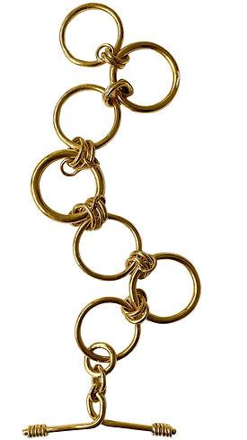 Solid gold large link chunky bracelet