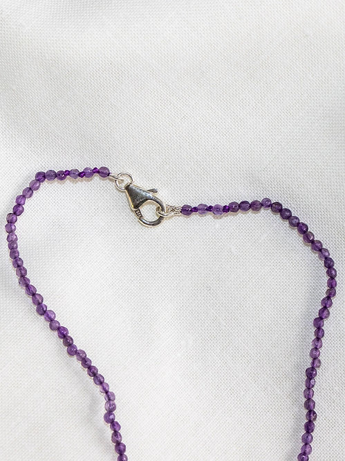 Amethyst Faceted Bead Necklace