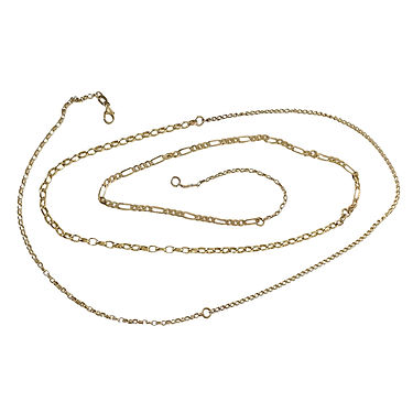 Ultimate mixed chain necklace in solid gold by Lucille London