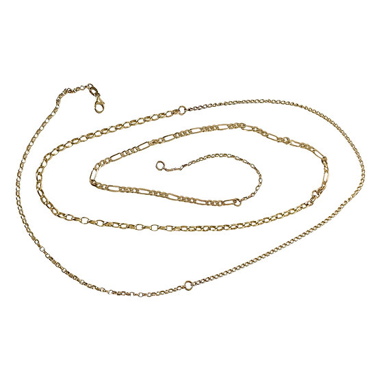 Ultimate Solid Gold Mixed Chain Necklace