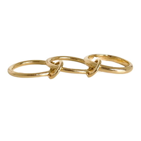 The Trinity Solid Gold 3 Band Ring