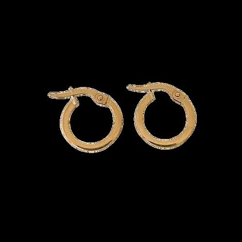 9-Carat Gold Square Edge Hoop Earrings