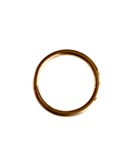 The Simplicity 2.0 Solid Gold Stacking Ring