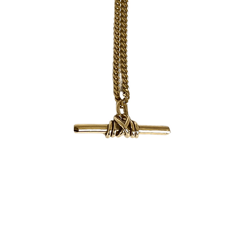 9ct Gold Warrior Pendant On Curb Chain Necklace