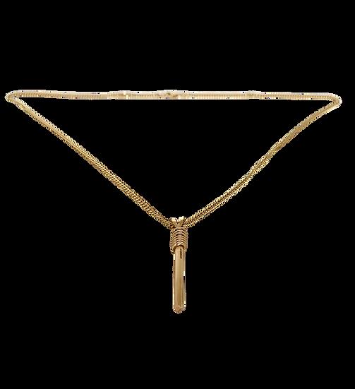 Solid Gold Vertical 'Warrior' Necklace