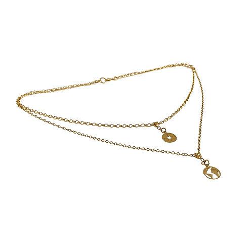 Solid Gold 'World Traveller' Necklace
