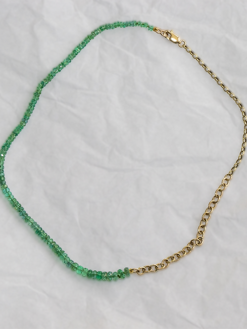 Emerald And Gold Choker Necklace