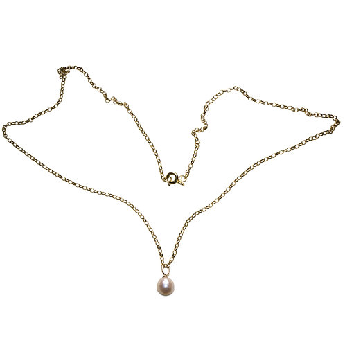 Pearl Charm On Belcher Chain
