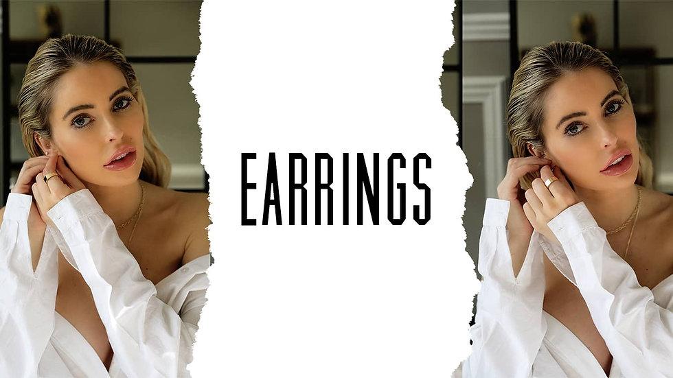 Earrings designed by Chiswick jeweller L