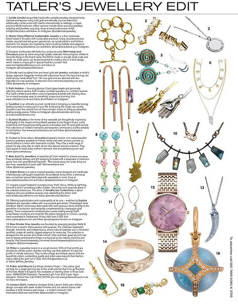 Tatler Magazine's Jewellery Edit featuri