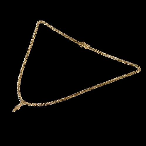 Solid Gold Lightening Bolt Necklace