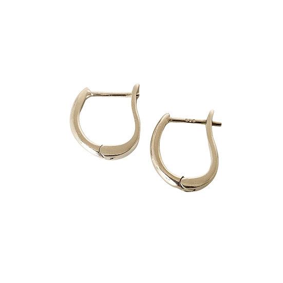 Silver Oval Hoop Earrings