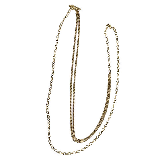 Solid Gold Adjustable Multi-Chain Necklace