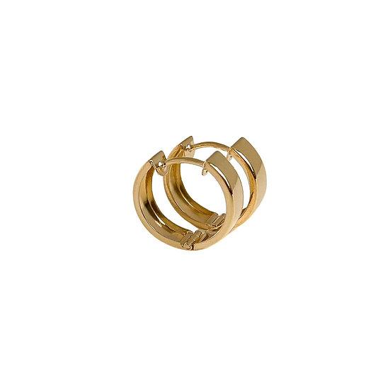 9-Carat Gold Wide Huggie Hoop Earrings