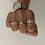 Thumbnail: Large Link Silver Figaro Chain Ring - UK Ring Size O