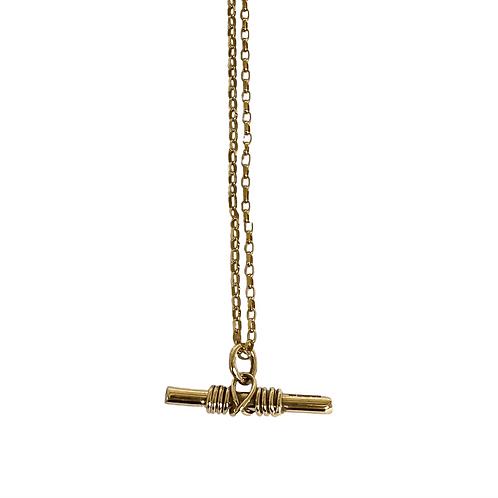 9ct Gold Warrior Pendant On Diamond-Cut Belcher Chain