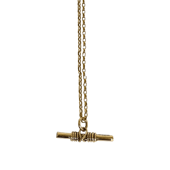 9ct Gold Warrior Pendant On Diamond-Cut Belcher Chain
