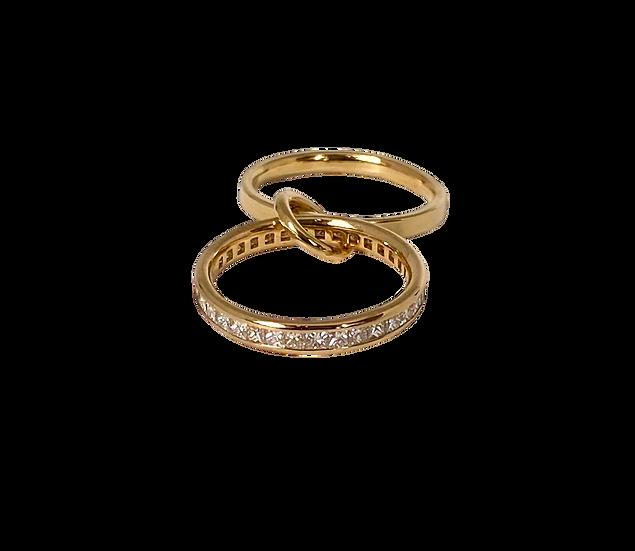 The Lyra Duo Diamond Eternity Ring