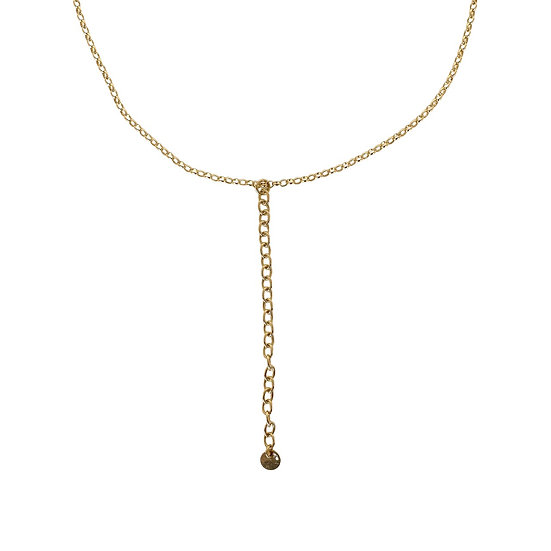 Solid Gold Chain Pendant Choker