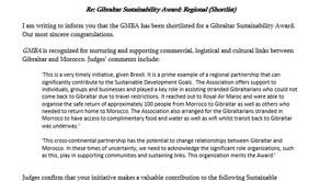 Gibraltar Sustainability Award: Regional (Shortlist)
