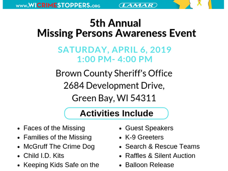 The 5th Annual Wisconsin Missing Persons Event