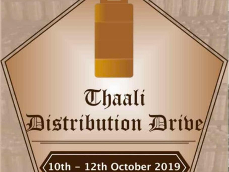 Thaali Distribution Drive - October 2019