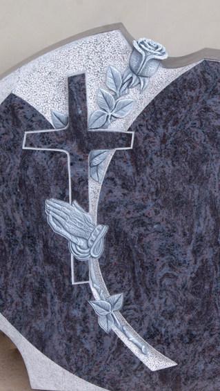 Granit Grabsteine Mittlböck Natursteine Material Bahama Blue Dark Orion dunkel