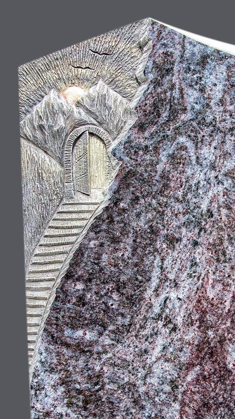 Granit Grabsteine Mittlböck Natursteine Material Bahama Blue, Orion