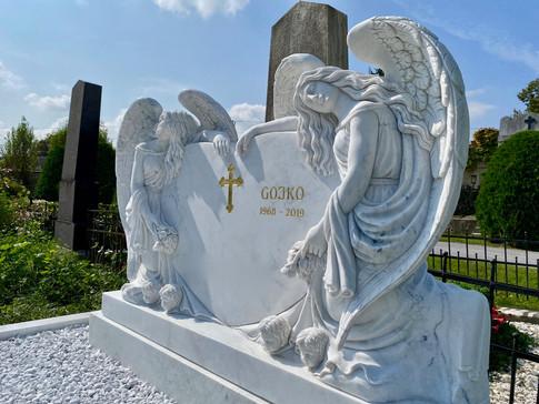 Engel, Engelsfiguren, Skulpturen, Marmor, Doppelengel