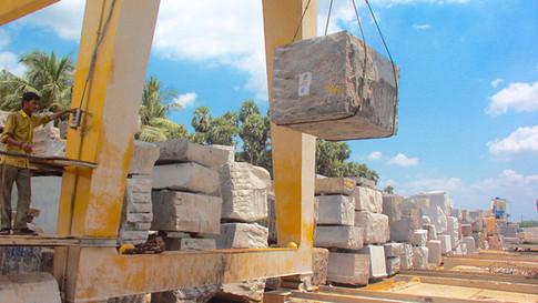 Granit, Grabsteine, Blocklager