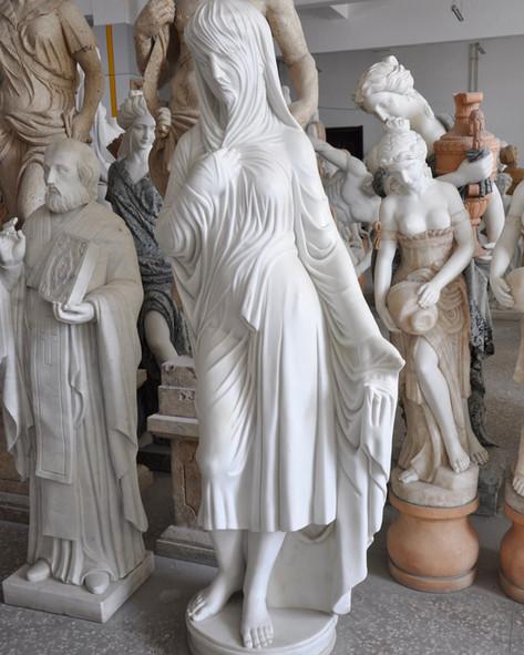 Engel Marmor Statuen Figuren Mittlböck Natursteine Material Weißer Marmor